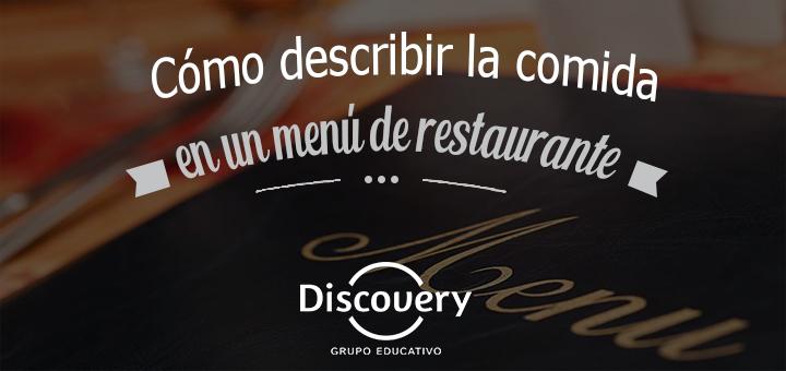 Cómo describir la comida en un menú de restaurante