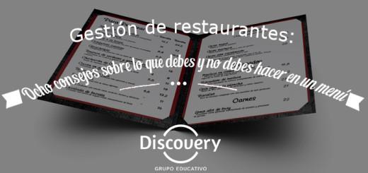 Gestion de Restaurantes: Consejos carta restaurante