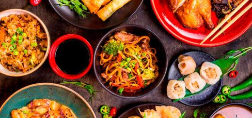 comida oriental y su cocina